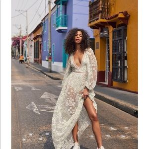 For Love and Lemons Eclair Maxi Dress